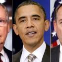 McConnell, Obama, Boehner