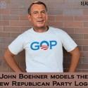 Boehner Models New GOP Logo