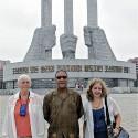 Larry Holmes, center, North Korea July 2013.