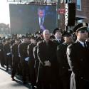 NYPD turn their backs on Mayor Bill de Blasio