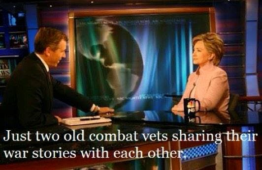 Hillary Clinton and Brian Williams