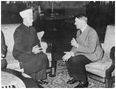 Husseini speaking with Hitler in 1941