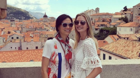 Wendi Deng Murdoch, left, is shown with Ivanka Trump in Dubrovnik, Croatia. (Ivanka Trump / Instagram)