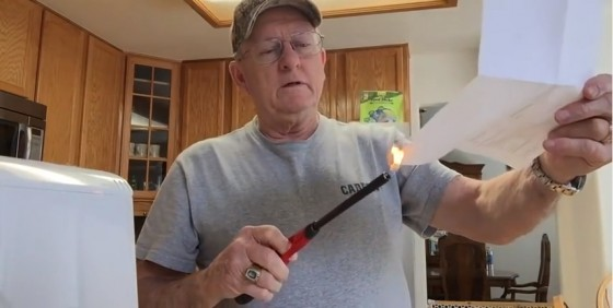 Larry Wayne Lindsey burning his GOP Registration